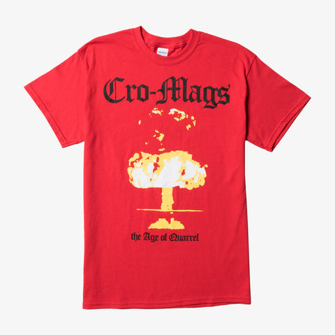 Cro-Mags - AOQ Shirt (Red) | Merch Connection - Metal, hardcore, punk, pop punk, rock, indie, and alternative band merchandise