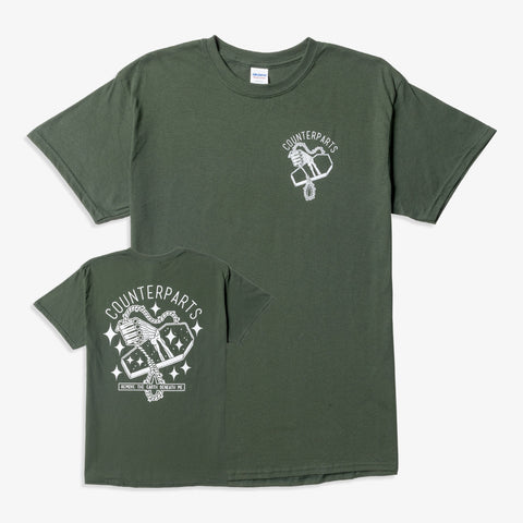 Counterparts - Noose Shirt (Forest Green) | Merch Connection - Metal, hardcore, punk, pop punk, rock, indie, and alternative band merchandise