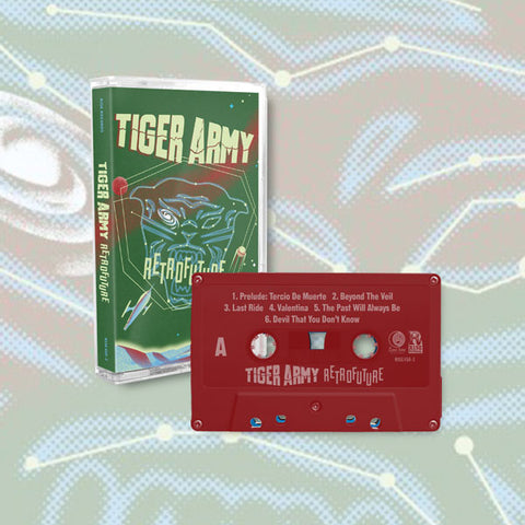 Tiger Army - Retrofuture Cassette (Red) | Merch Connection - Metal, hardcore, punk, pop punk, rock, indie, and alternative band merchandise