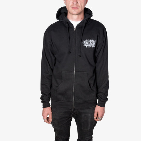 Eighteen Visions - Logo Zip-Up (Silver Ink) | Merch Connection - Metal, hardcore, punk, pop punk, rock, indie, and alternative band merchandise