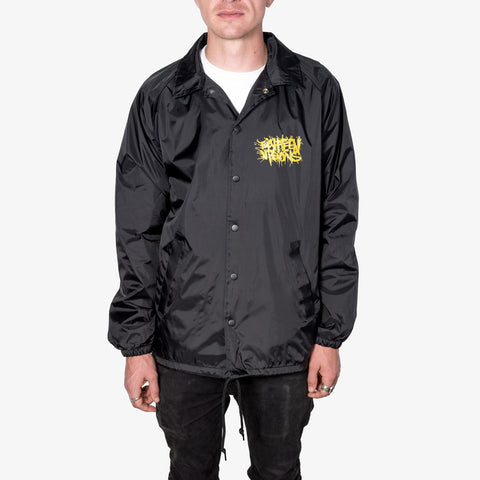 Eighteen Visions - Logo Windbreaker (Black) | Merch Connection - Metal, hardcore, punk, pop punk, rock, indie, and alternative band merchandise