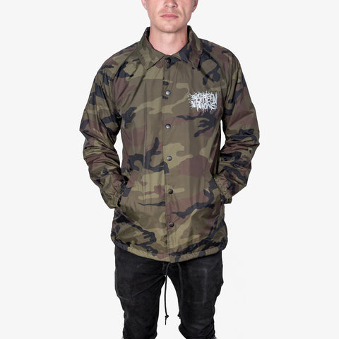 Eighteen Visions - Logo Windbreaker (Camo) | Merch Connection - Metal, hardcore, punk, pop punk, rock, indie, and alternative band merchandise