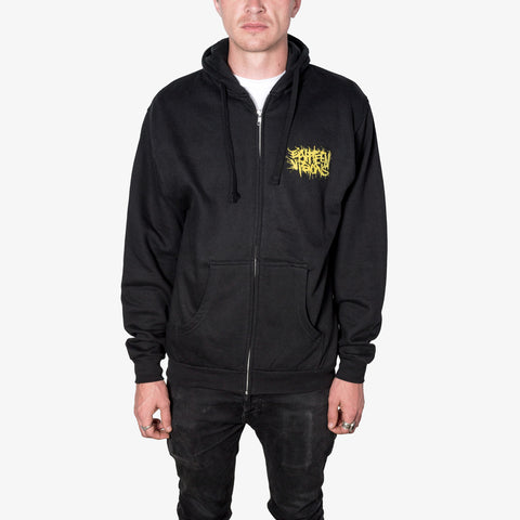 Eighteen Visions - Logo Zip-Up (Gold Ink) | Merch Connection - Metal, hardcore, punk, pop punk, rock, indie, and alternative band merchandise