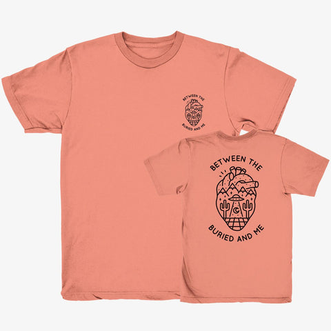 Between the Buried and Me - Heart Shirt (Coral)