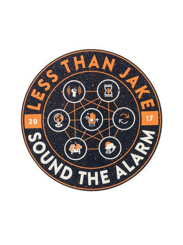 Less Than Jake - Sound The Alarm Slip Mat | Merch Connection - Metal, hardcore, punk, pop punk, rock, indie, and alternative band merchandise