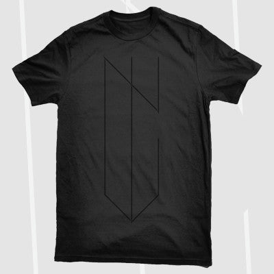 NYVES - NYVES - Logo Shirt (Black on Black) - 2