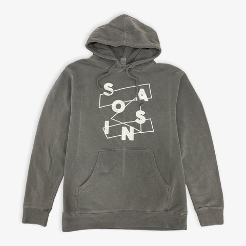 Saosin - Scrabble Pigment Dyed Hoodie | Merch Connection - Metal, hardcore, punk, pop punk, rock, indie, and alternative band merchandise