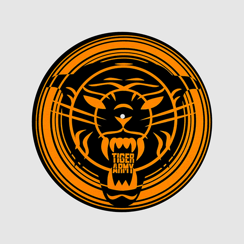 Tiger Army - Orange Spiral Glow Slipmat