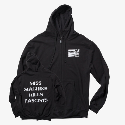 Dillinger Escape Plan - Miss Machine Kills Fascists Zip-Up | Merch Connection - Metal, hardcore, punk, pop punk, rock, indie, and alternative band merchandise