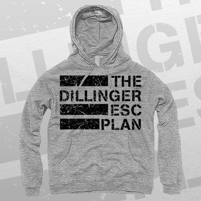 Dillinger Escape Plan - Logo Hoodie (Grey) | Merch Connection - Metal, hardcore, punk, pop punk, rock, indie, and alternative band merchandise