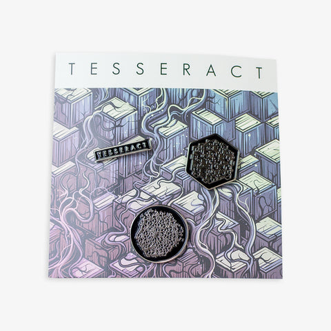 Tesseract - Enamel Pin Set | Merch Connection - Metal, hardcore, punk, pop punk, rock, indie, and alternative band merchandise