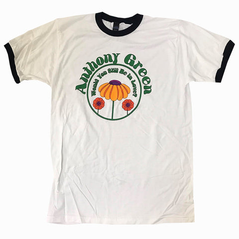 Anthony Green - Flowers Ringer Shirt | Merch Connection - Metal, hardcore, punk, pop punk, rock, indie, and alternative band merchandise