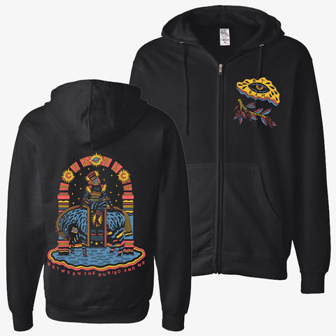 Between the Buried and Me - Illustration Zip-Up | Merch Connection - Metal, hardcore, punk, pop punk, rock, indie, and alternative band merchandise