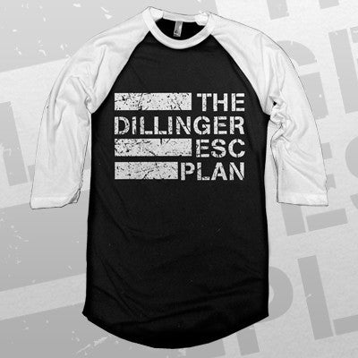 Dillinger Escape Plan - Logo Raglan | Merch Connection - Metal, hardcore, punk, pop punk, rock, indie, and alternative band merchandise