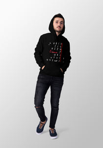 The Alphabet Song Hoodie - Black
