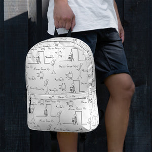 Never Grow Up Stick Figure Backpack
