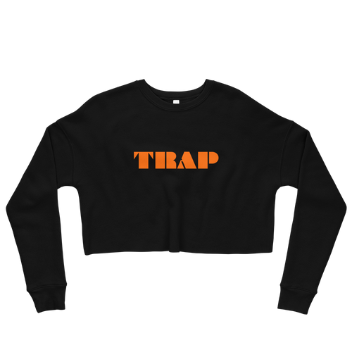 TRAP - Crop Sweatshirt - Electric Orange
