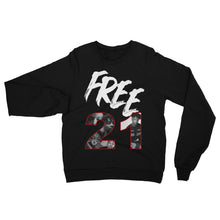 Load image into Gallery viewer, #Free21 Sweatshirt - BLACK