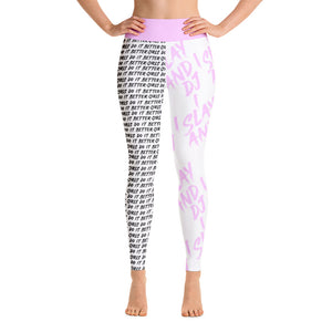 I Slay and I DJ Leggings - POWDER PINK