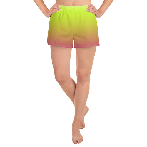 Women's Ombre Athletic Shorts