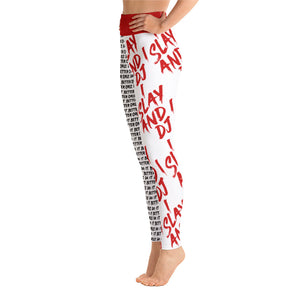 I Slay and I DJ Leggings - RED