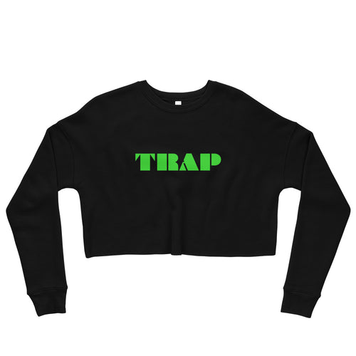 TRAP Fleece Crop Sweatshirt - Electric Green