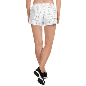 Never Grow Up Women's Athletic Shorts