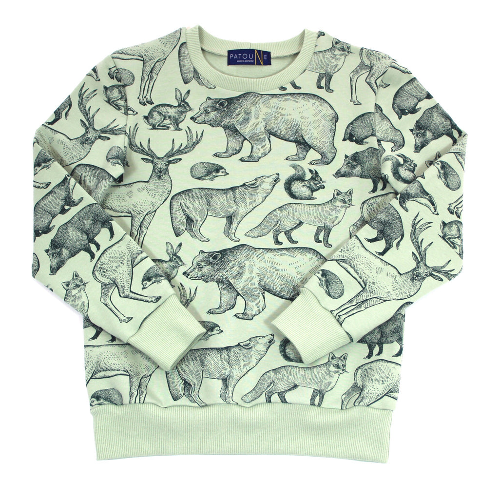 Patoune Sweater Forest Animals