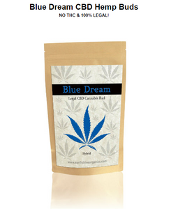 Blue Dream Hemp Buds - 4 grams - 1/8 oz