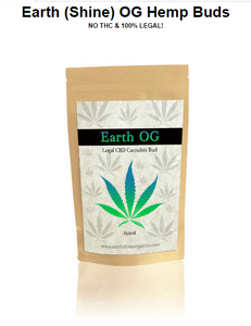 Earth Shine OG CBD Hemp Buds - 4 Gram - 1/8 oz