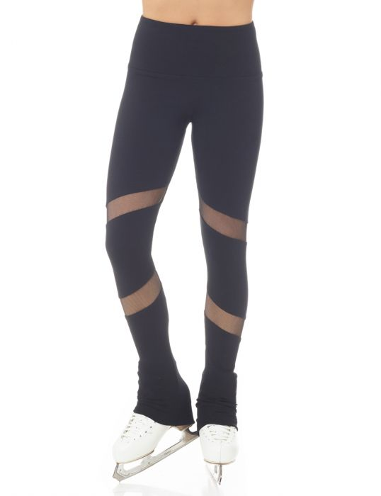 Legging Supplex® avec insertion résille #6804