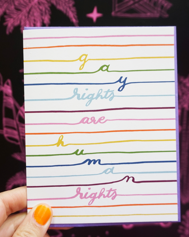 """Gay Rights are Human Rights"" Card"
