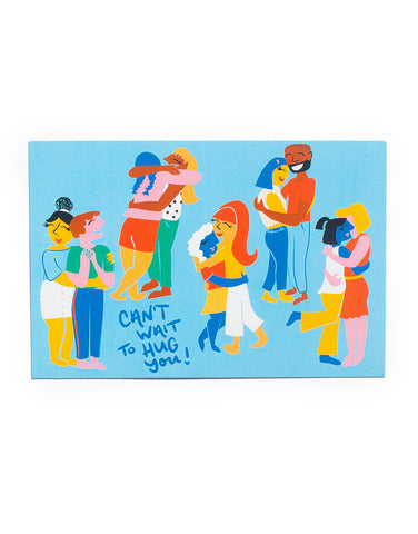 """Can't Wait to Hug You"" Postcard Pack"