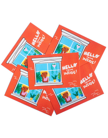 """Hello from Inside!"" Postcard Pack"