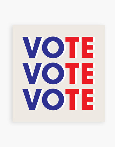 The Vote Vote Vote Sticker