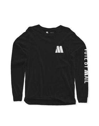 Motown Vote By Mail Long Sleeve T-Shirt - Black