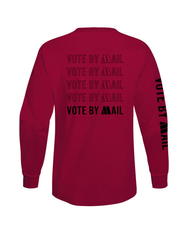 Motown Vote By Mail Long Sleeve T-Shirt - Red
