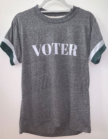 Voter Ringer Tee - Grey