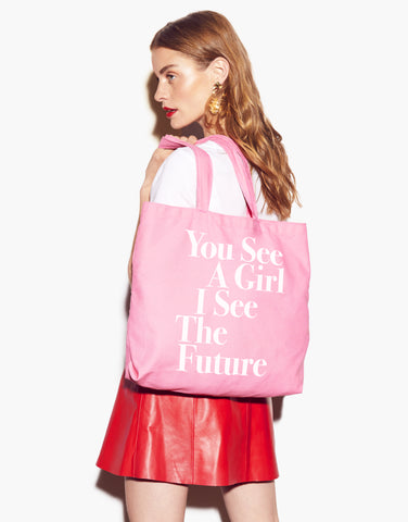 You See A Girl Tote
