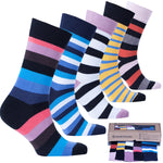 Men's 5-Pair Cool Striped Socks-3060
