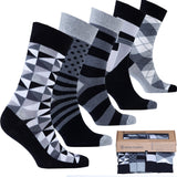 Men's 5-Pair Fun Mix Socks-3038