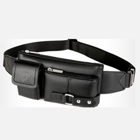 PU Leather Waist Bag Men - Fanny Pack