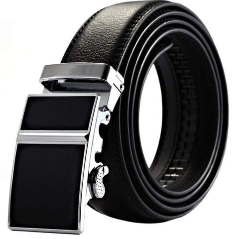 Automatic Metal Buckle Soft Leather Belt