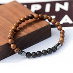 6MM Natural Wood Beads Wristband