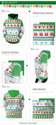 2018 Fashionable 3D Christmas Sweater's feasures