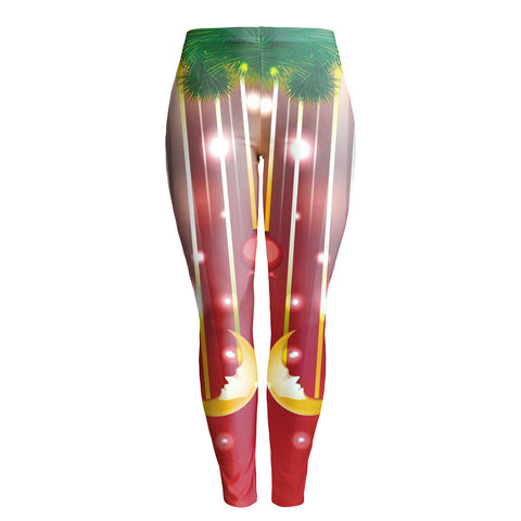 Women's colorful Sequined Christmas Leggings matching tights