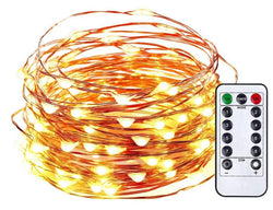 Copper wire string star lights Christmas lights button battery light string decorative lights outdoor waterproof string lights