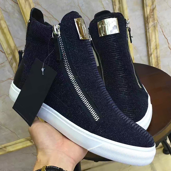 New Trendy high top buckle  shoe 34