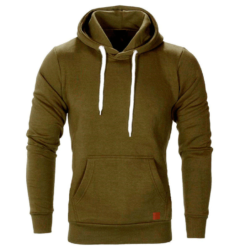 Fashion Casual Solid Color Sport Hoodie