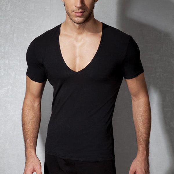 Sexy Deep V Neck Short Sleeve T-Shirts